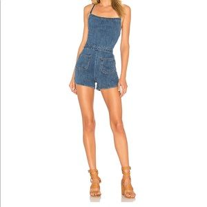 Stoned Immaculate Sexy Jean Romper Size Med EUC